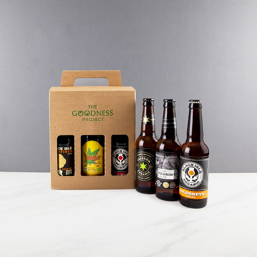 Organic vegan gluten free gifts hampers and products fantastic free from organic beer gift box negle Gallery