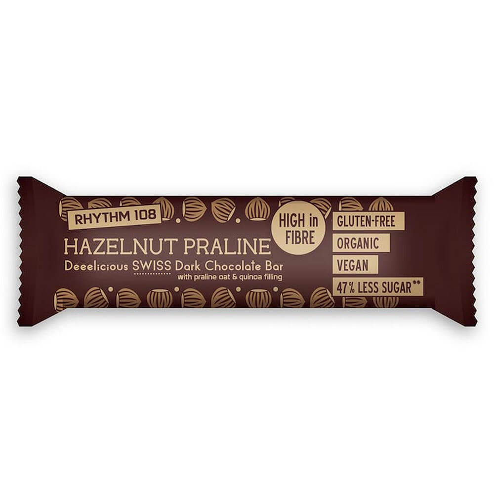 Rhythm 108 Organic Hazelnut Praline Bar 33g