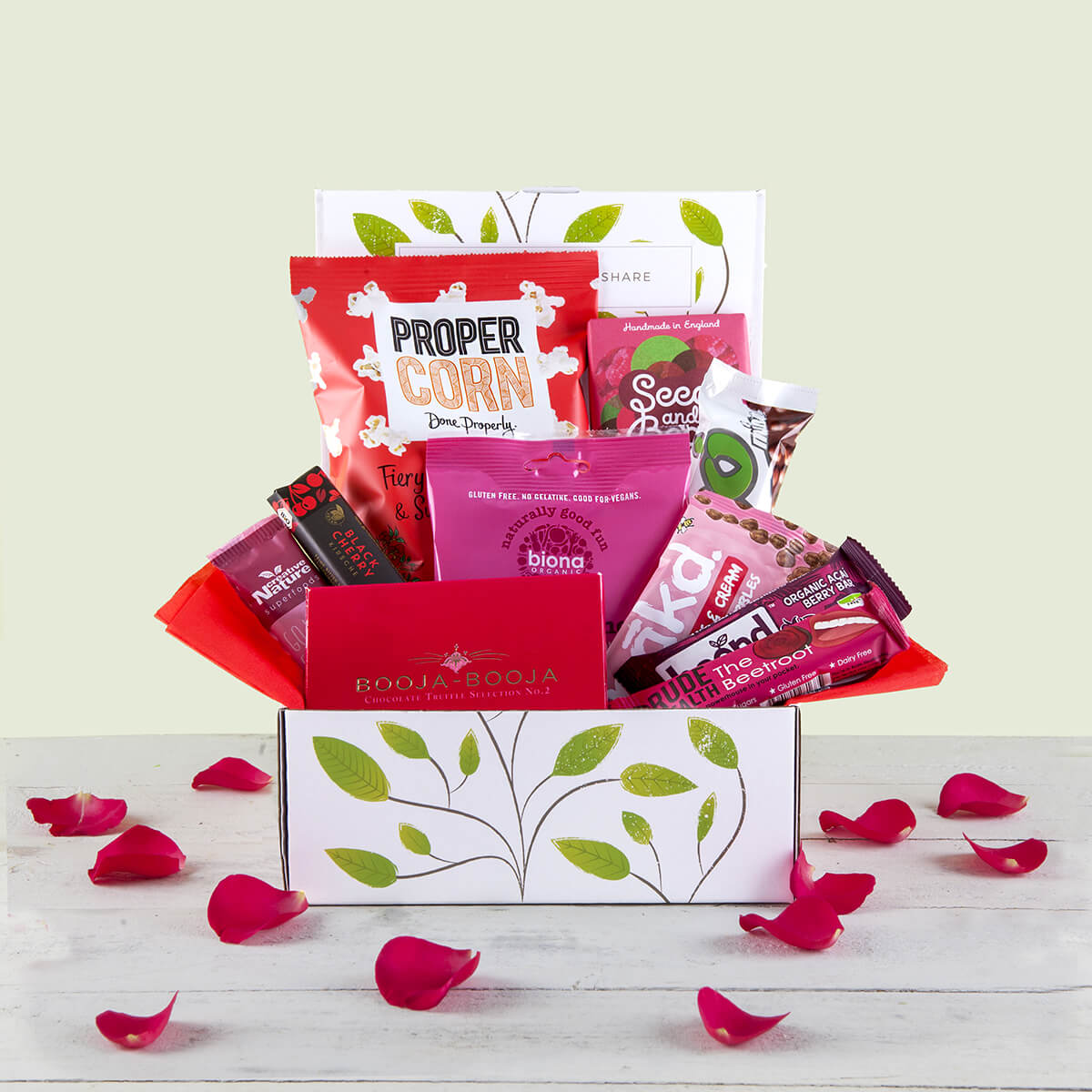 Organic vegan gluten free gifts hampers and products love chocolate and snack hamper gift box negle Gallery