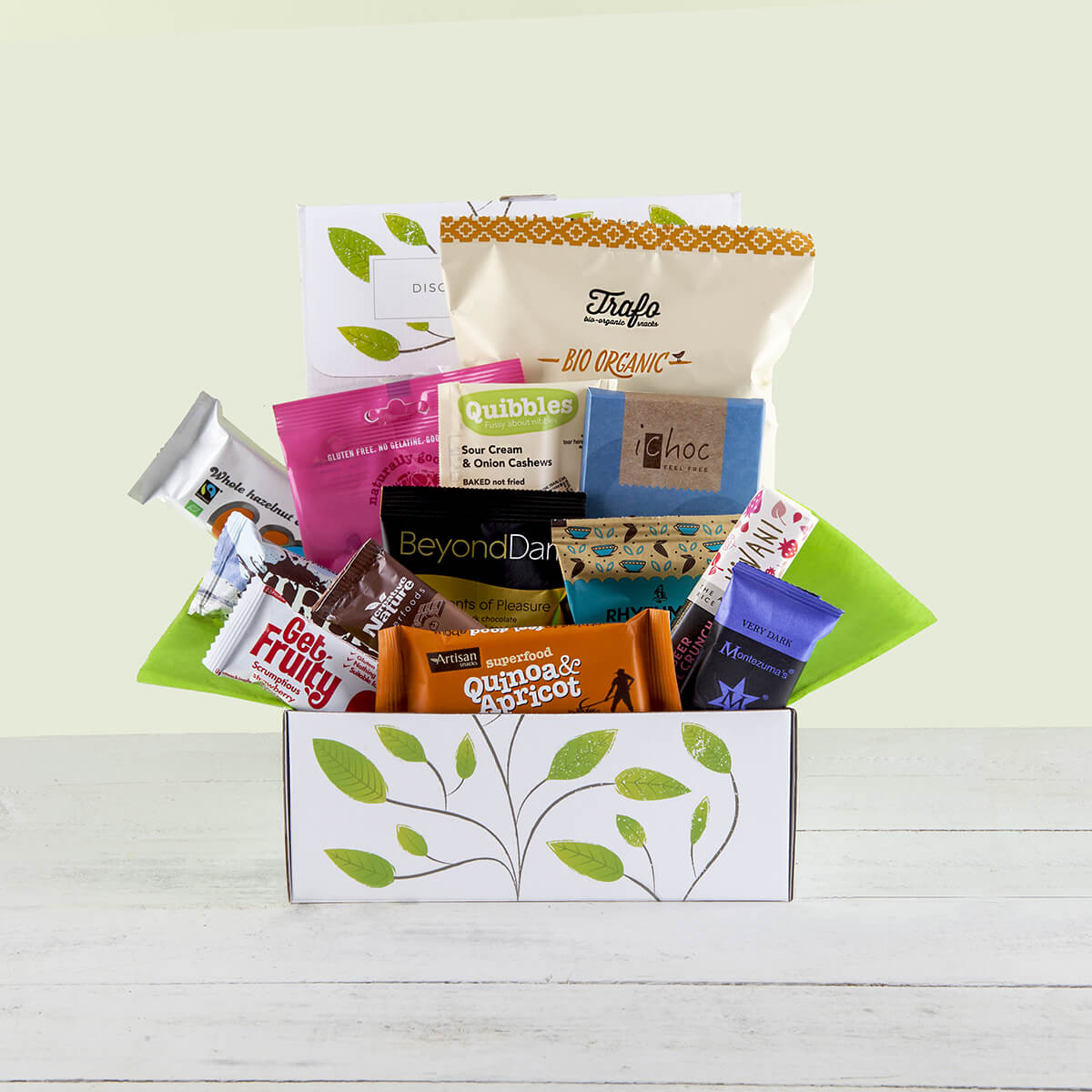 Organic vegan gluten free gifts hampers and products vegan chocolate and snack hamper gift box negle